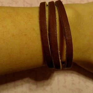 Leather type bracelet